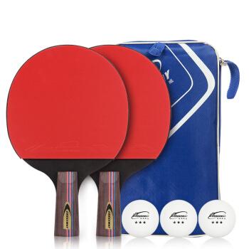 クロスウィットの規格品の卓球の完成品は双拍の2匹の初心者の卓球ラケットをたたいて2本の詰め物をまっすぐにたたいて、3つのボール+セットをプレゼントします。
