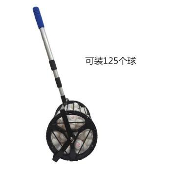 卓球の野球のソフトボールのテニスはボールを拾って器を拾ってボールを収めます。