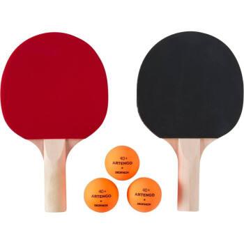 ディカノン子供向け娯楽ミニラッケ卓球セット初学体験室内趣味カジュアルTAT 2つのミニラッケト+3つのオレンジ色卓球