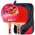 紅双喜DHES二星兵卓球ラケットの両面テープシングル/学生の入門トレーニングスポーツフィットネスE-EF 2セットのショット【横撮り各1本】
